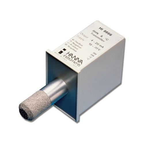 Transmisor de Humedad Relativa y Temperatura con sonda interna (0 (4mA) a 100% (20mA))