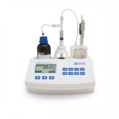 Valorador automático de Alcalinidad y pH en agua, rango bajo y alto