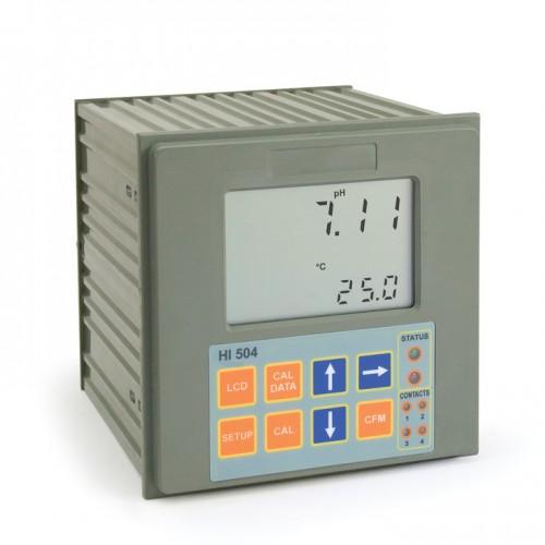 Controlador pH/ ORP con control remoto, 2 puntos de consigna, control ON/ OFF y PID, 2 salidas analógicas, entrada RS485, funci