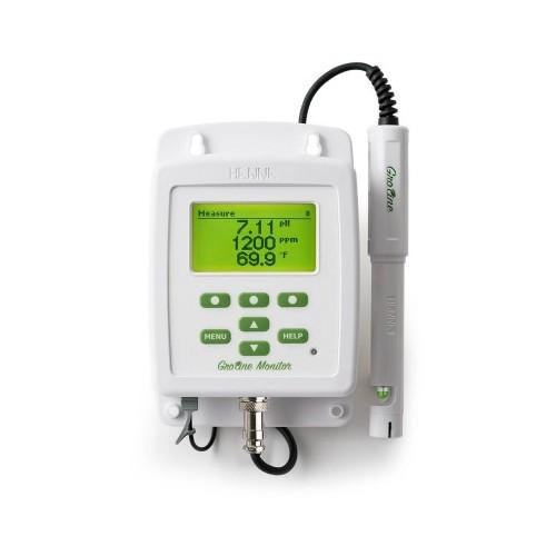 Monitor para pH/ CE/ TDS/ Temperatura con registro de datos y descarga USB