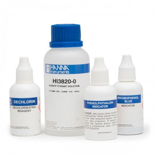 Recambio 100 test para Acidez como CaCO3 (0 a 100 - 0 a 500 mg/ L)