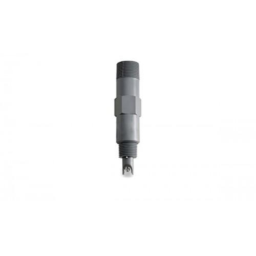 "Electrodo pH para control en continuo, con ""matching-pin"", cuerpo plástico (124mm), unión PTFE, 6 bar,conector BNC"