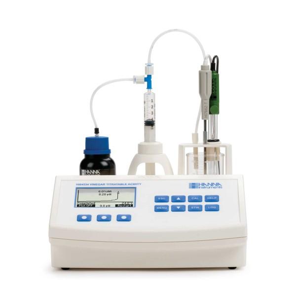 Valorador automático de Acidez Total y pH Ácido Acético